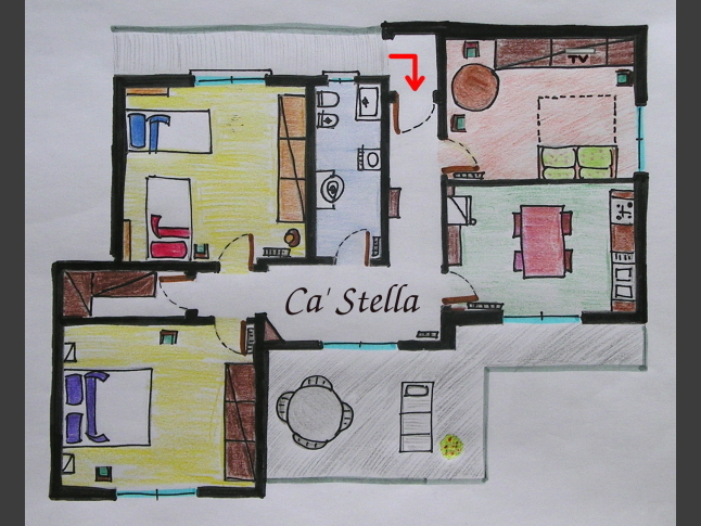 Mappa appartamento Ca' Stella